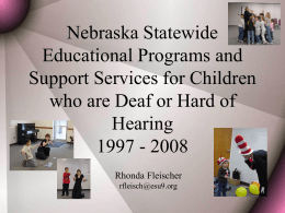 Nebraska Statewide Educational Programs and Support