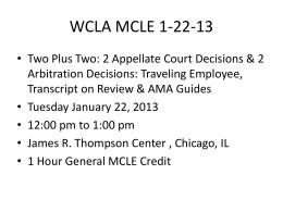 WCLA MCLE 12-6-12