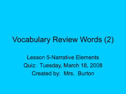 Vocabulary Review Words (2)