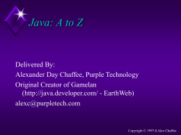 Training - Alex Chaffee's Purple Technology
