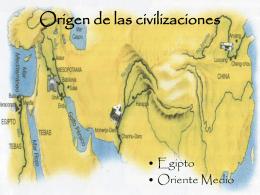 Origen de las civilizaciones