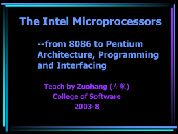 The Intel Microprocessors -