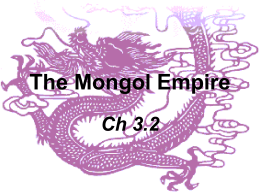 The Mongol Empire - Le Mars Community Schools