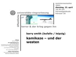 Kamikaze – und der Westen