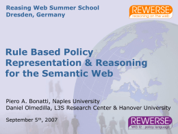 ESWC'06 Tutorial: Semantic Web Policies: Where are we …