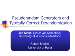 Pseudorandom Generators and Typically