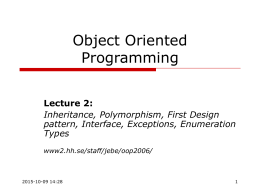 Object Oriented Programming LP3 2004