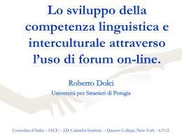 Lo sviluppo della competenza interculturale attraverso la
