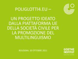 Poliglotti4.eu – un progetto IDEATO DAlla piattaforma UE