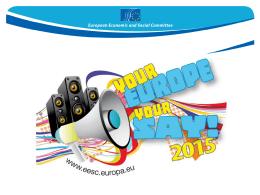Aggiornamento - La vostra Europa, la vostra opinione