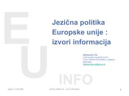 Institucije EU koje sudjeluju u procesu donošenja odluka