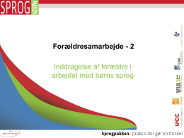 3 niveauer - SPROGPAKKEN:DK