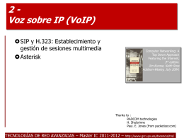 Tema 5: Voz sobre IP