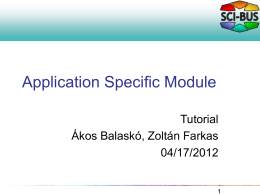 Application Specific Module