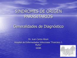 SINDROMES DE ORIGEN PARASITARIOS