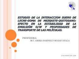 ESTUDIO DE LA INTERACCION SUERO DE LECHE