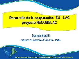 Desarrollo COOP EU LAC NECOBELAC