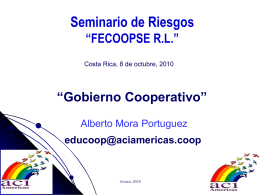 Diapositiva 1 - FECOOPSE R.L.