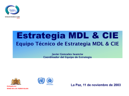 Estrategia MDL & CIE Avance