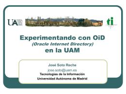 Experimentando con OiD