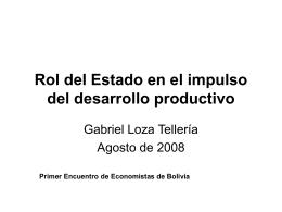 Rol del Estado en el impulso del desarrollo productivo