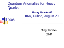 Strange Quarks Polarisation from Gluon Anomaly IWHSS …
