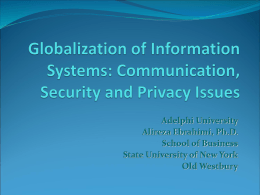 Globalization of Information Systems: Communication