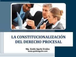 Diapositiva 1 - Guido Aguila Grados, Docente en Derecho