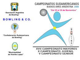 CAMPEONATOS SUDMERICANOS BS AS 2008