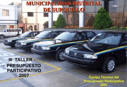 MUNICIPALIDAD DISTRITAL DE SURQUILLO