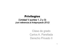 Privilegios - Estudio de Abogados Parellada & Asociados