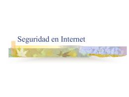 Hw, Sw y Comunicaciones para Internet