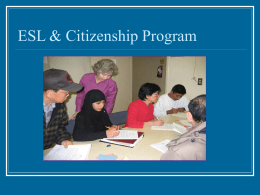 ESL & Citizenship Program