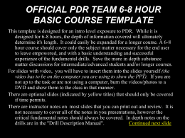 PDR Fundamentals 4 Hour LP: