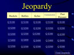 Jeopardy - Boyd County Public Schools