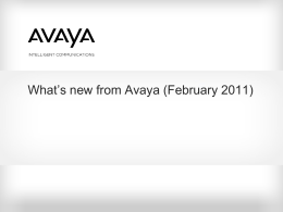 Avaya Internal Template for PowerPoint 2003