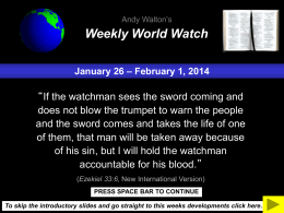 Weekly World Watch