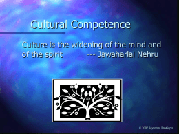Cultural Competence - Columbia University