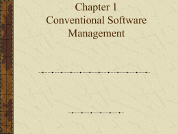 Chapter 1 Conventional Software Management