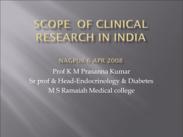 Scope of clinical research