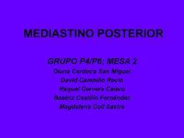 MEDIASTINO POSTERIOR - UCM
