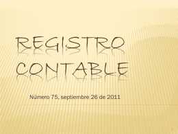 Registro contable
