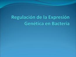 Regulacion de la Expresion Genetica en Bacteria