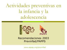 Recomendaciones Prevnfad/PAPPS