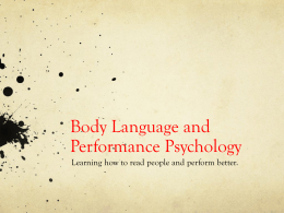 Body Language and Performance Psychology