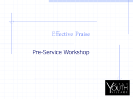 EFFECTIVE PRAISE - Utah Youth Village