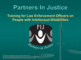 PARTNERS IN JUSTICE - The Arc of North Carolina