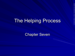 The Helping Process - Bakersfield College