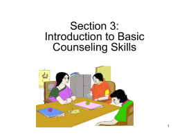 Workshop 3: Basic Counselling Skills for Drug Addiction