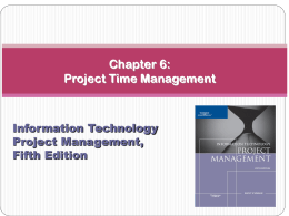 Project Time Management - City University of New York